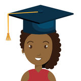 Happy person graduating design. Illustration eps10 graphic Royalty Free Stock Images