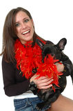 Happy Pet Owner stock images