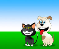 Happy Pets Shows Domestic Animal And Countryside Royalty Free Stock Photo