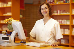 Happy pharmacist Royalty Free Stock Image