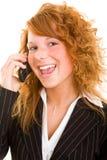 Happy on the phone Stock Photo