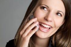Happy Phone Businesswoman Royalty Free Stock Photos