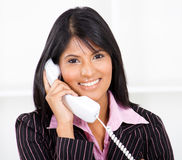 Happy phone call Stock Photography