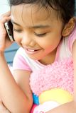 Happy phone call royalty free stock image