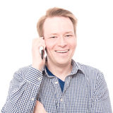 Happy phone call Royalty Free Stock Photos