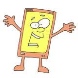 Happy Phone Cartoon Stock Image