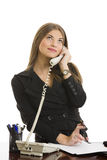 Happy phone conversation Royalty Free Stock Images