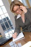 Happy phone girl Royalty Free Stock Image