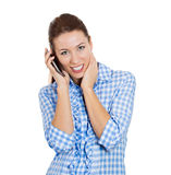Happy phone talks Royalty Free Stock Photo