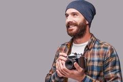 Happy photographer. Royalty Free Stock Photo