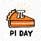 Happy Pi Day vector illustration