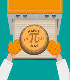 Happy Pi Day concept observed every March 14. Editable Clip art. Stock Image