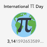 Happy pi day Stock Image
