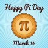 Happy Pi Day, March 14 vector illustration