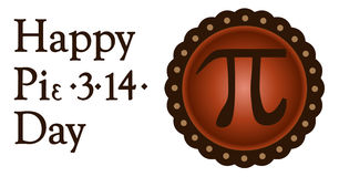 Happy pi day, march 14 royalty free illustration