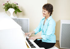 Happy Pianist Stock Photo