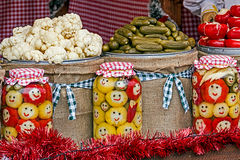 Happy pickles from Maramures, Romania 3 Royalty Free Stock Photo