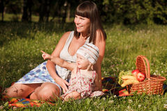 Happy picnic Stock Images