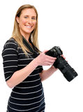 Happy picture taking Royalty Free Stock Image