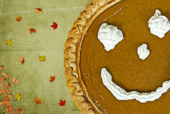 Thanksgiving Pumpkin Pie Royalty Free Stock Photography