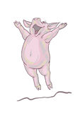 Happy pig stock illustration