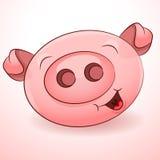 Happy Pig Icon Stock Photography