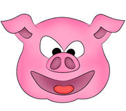 Happy Pig Stock Image