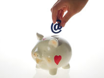 Happy piggy bank Royalty Free Stock Photography