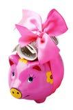 Happy piggy bank Royalty Free Stock Image