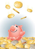 Happy_piggy_bank Photos libres de droits