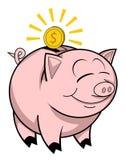 Happy piggy bank Stock Photos