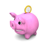 Happy piggy bank Royalty Free Stock Photo