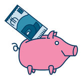 Happy Piggy bank or money box Stock Photography