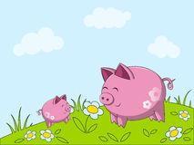 Happy pigs Royalty Free Stock Photography