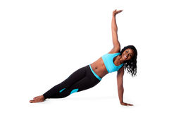 Happy pilates yoga exercise royalty free stock photo