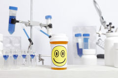 Happy Pill Laboratory Royalty Free Stock Photography