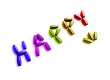 Happy pills concept royalty free stock images