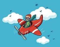 Happy pilot Stock Images