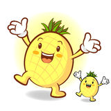 Happy Pineapple Character Stock Photos