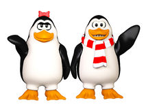 Happy pinguins Stock Photo