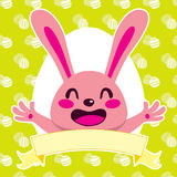 Happy Pink Bunny Royalty Free Stock Images