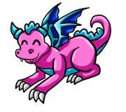 Happy Pink Dragon vector illustration