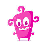 Happy pink monster. Vector illustrationHappy green monster, vector illustration Royalty Free Stock Photos