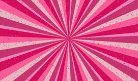 Happy pink  sunburst illustration Stock Image