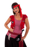 Happy pirate girl Royalty Free Stock Photo