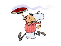 Happy Pizza Chef Royalty Free Stock Images