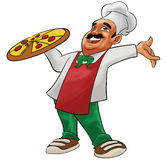 Happy pizzaiolo Stock Photography