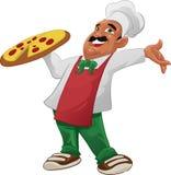 Happy pizzaiolo Stock Images