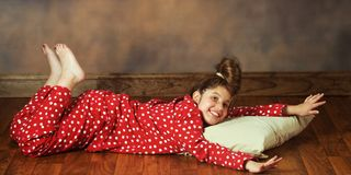 Happy in PJs Stock Images