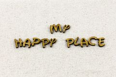 Happy place welcome home heart love typography word stock images